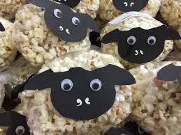 sheep snack popcorn nice for eid material sheep face