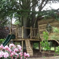 tree house slide children u0027s play tree house garden pinterest