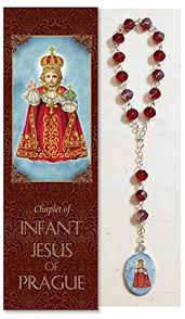 infant jesus of prague chaplet with phlet ps343