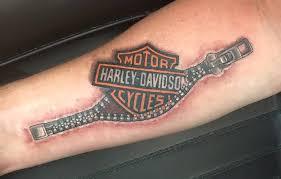 harley davidson logo motor bike zipper tattoo design golfian com
