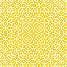 yellow wrapping paper vector geometric deco pattern with lacing shapes in yellow