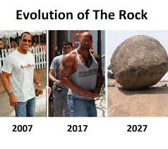 Rock Memes - evolution of the rock 2017 2007 2027 meme on me me