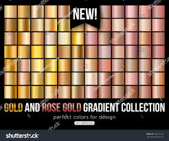 trend colors rose gold gradient collection trend colors stock vector 563571718