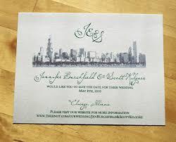 chicago skyline themed wedding stationery invitations flickr