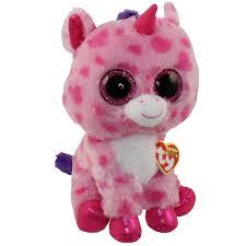 ty beanie boos sugar pie pink unicorn glitter eyes medium