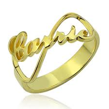 name ring custom infinity name ring 18k gold plated