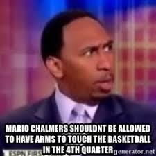 Mario Chalmers Meme - mario chalmers shouldnt be allowed to have arms to touch the