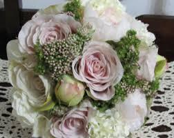 Silk Bridal Bouquets Wedding Bouquets And Boutonnieres 7 Piece Set Silk Bridal