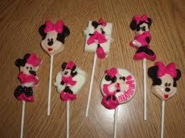 lollipop party favors minnie mouse set of 7 chocolate lollipops party favors