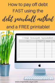 Debt Spreadsheet How To Payoff Debt Fast With The Debt Snowball Inspired Budget