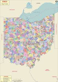 New York State Counties Map by Ohio Zip Code Map Ohio Postal Code