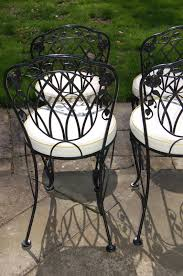 lyon shaw windflower lattice wrought iron outdoor patio table u0026 4