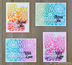 easy ombre glitter card set cutcardstock