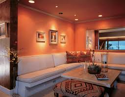 orange painting ideas for living room