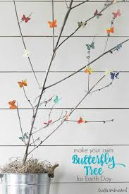 diy paper butterfly tree for earth day