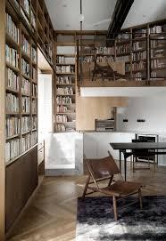 Ceiling To Floor Bookshelves Shanghai Apartment Lined With Floor To Ceiling Bookshelves