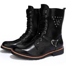 mens motorcycle sneakers cool mens quality leather motorcycle ankle boots rivet studded