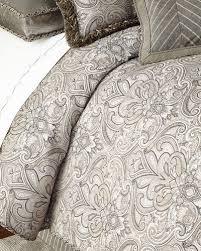 brilliant gray zipper closure duvet cover neiman marcus within