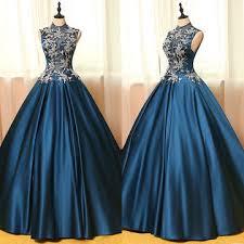 lolipromdress review 49 off long vintage blue ball gown high neck sleeveless zipper