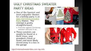 Christmas Sweater Party Ideas - ugly christmas sweater party ideas youtube