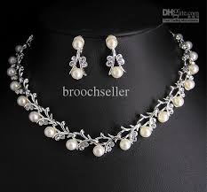 pearl bridal necklace images Hign quality unique tyle crystal and pearl bridal necklace and jpg