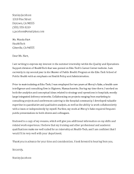 sample cover letter for marketing internship sample litigation