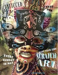 sunday arts u0026 crafts scratch art tattooed mom