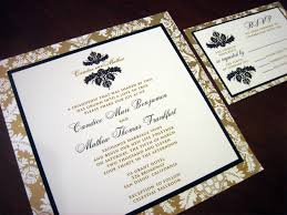 black and gold wedding invitations black and gold wedding invitation with brocade design a vibrant