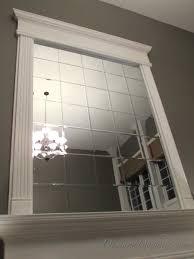 Mirror Film For Walls Diy Beveled Mirror Tile Overmantel Hometalk