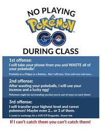 look class poster threatens to waste students pokeballs