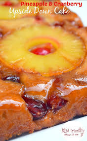 a cranberry pineapple upside down cake