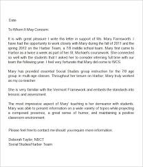 letter of recommendation for a student letter of recommendation