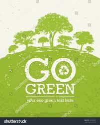 go green eco tree recycling concept stock vector 193829507