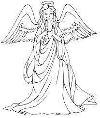free printable angel coloring pages kids
