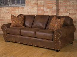Leather Settees Uk Remarkable Rustic Leather Sofa With Pillows For Dark Brown Leather