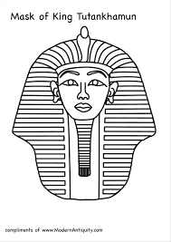 free king tut coloring pages generous templates gallery