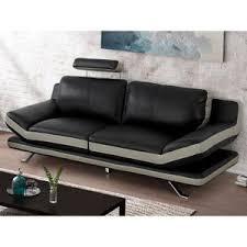 divan canapé canape 3 2 cuir avec tetieres achat vente canape 3 2 cuir avec