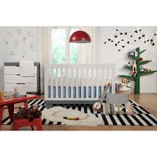 bedroom white babyletto modo crib on gray lowes rugs and wicker