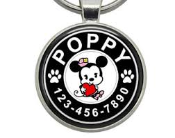 minnie mouse pet tag etsy
