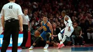 Hit The Floor Killer Crossover - steph curry dribbles chris paul into the floor in super slow mo