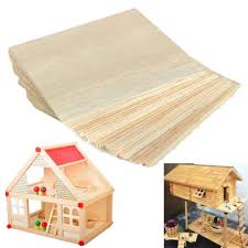 20pcs balsa wood sheets wooden plate 100 100 1mm for house ship