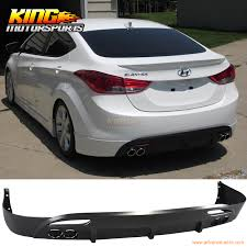 rear bumper hyundai elantra oe pp lower rear bumper lip diffuser kit fit 11 13 hyundai elantra