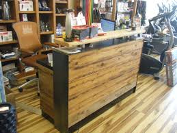 Reception Desk Wood Buy A Made 4 Reclaimed Distressed Wood Reception Desk Or