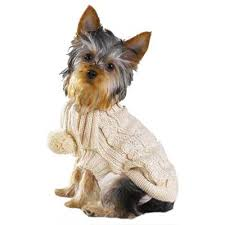 organic wool cable knit dog sweater