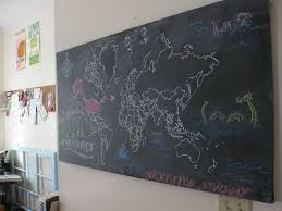Diy World Map by Diy Chalkboard World Map The Hungry Fox