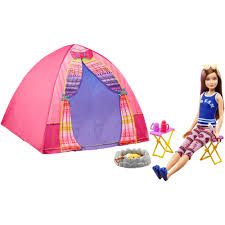 purple barbie jeep barbie camping fun cabin playset walmart com