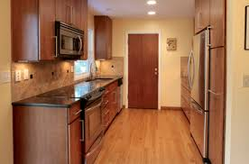 Galley Kitchen Remodel - galley kitchen design layout refacing kitchen cabinets without