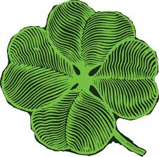 clipart of a st paddys day shamrock four leaf clover