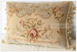 Shabby Chic Cushions by 22 Aubusson Pillow Shabby French Chic Cushion Cover Blue Cream