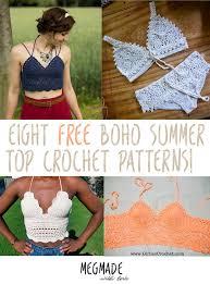 boho crochet 8 free boho summer top crochet patterns megmade with